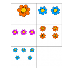 File Folder Number to Quantity 1-10 (Flower Theme)