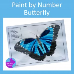 Paint By Number Butterfly Fine Motor Skills Art and Crafts Activity