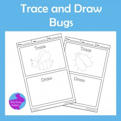 Trace and Draw Bugs Fine Motor Skills Activity