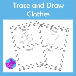 Trace and Draw Clothes Fine Motor Skills Activity
