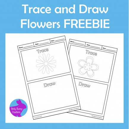 Trace and Draw Flowers Fine Motor skills Activity