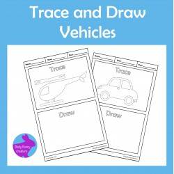 Trace and Draw Vehicles Fine Motor skills Activity
