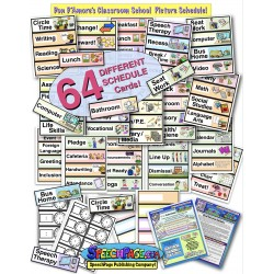 Classroom Picture & Word Schedule: 64 Different Colorful Illustrated Large Word Cards!