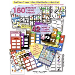 COLORS! Teach 10 Different Colors! 160 Cards and 42 Learning Pages!