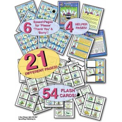 Please, Thank You, & Sorry! Teaching The Social Language Magic Words! 54 ILLUSTRATED Cards!