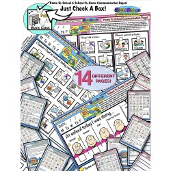 Home To School & School To Home Carryover Communication With Symbols! Combo Pack!