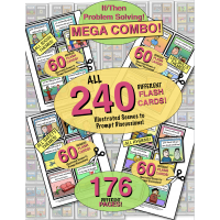 PROBLEM SOLVING ILLUSTRATED! MEGA COMBO! 240 Cards! 170 Pages! Problems & WH Questions!