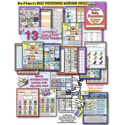 MORNING CIRCLE BINDER KIT! Interactive Calendar Discussion Activities!