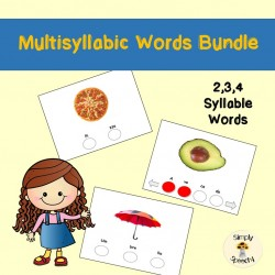 Multisyllabic Words Activities Bundle