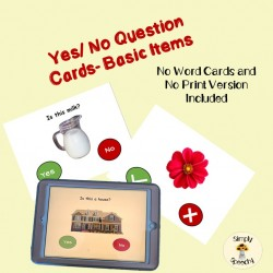 Yes and No Question Cards- Basic Items