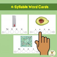 Multisyllabic Words Activities-4 Syllable Words