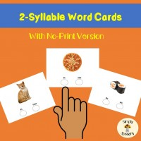 Multisyllabic Words Activities-2 Syllable Words