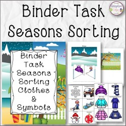 BINDER TASK Seasons Sorting
