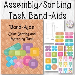 Band-Aids Color Sorting and Matching Task