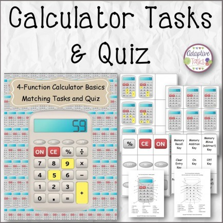 Calculator Tasks and Quiz
