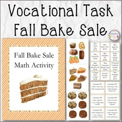 VOCATIONAL TASK Fall Bake Sale