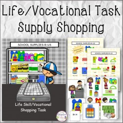 Life/Vocational Task School Supply Shopping