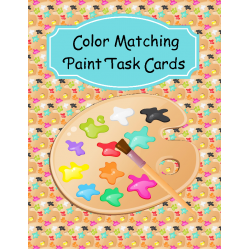 Color Matching Paint Task Cards