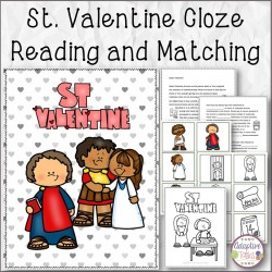 St. Valentine Cloze Reading and Matching