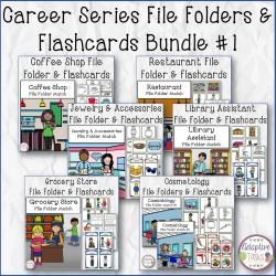 Career Series File Folder and Flashcard Bundle #1