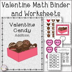 Valentine Math Binder and Addition Worksheets