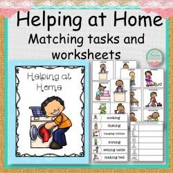 Helping at Home Matching Tasks and Worksheets
