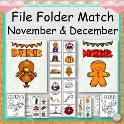 File Folder Match November and December