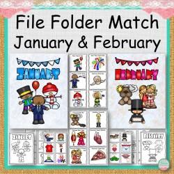 File Folder Match January and February