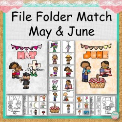 File Folder Match May and June