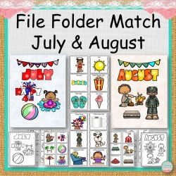 File Folder Match July and August