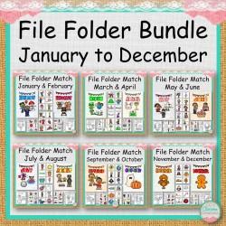 File Folder Bundle January to December