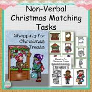 Nonverbal Shopping for Christmas Treats Matching Tasks