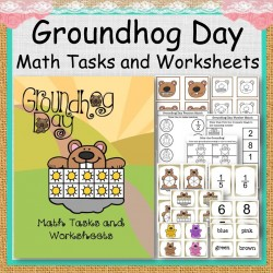 Groundhog Day Math Tasks and Worksheets