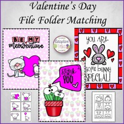 Valentine's Day File Folder Matching