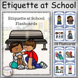 Etiquette at School Flashcard Set