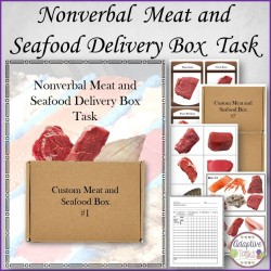 Nonverbal Meat and Seafood Delivery Box Task