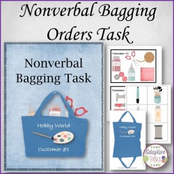 Nonverbal Bagging Customer Orders