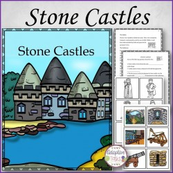Stone Castles Story, Worksheets, and File Folder Matching