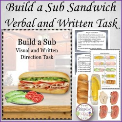Build a Sub Sandwich Written and Visual Direction