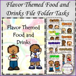 Flavor Themed Food and Drinks File Folder Tasks