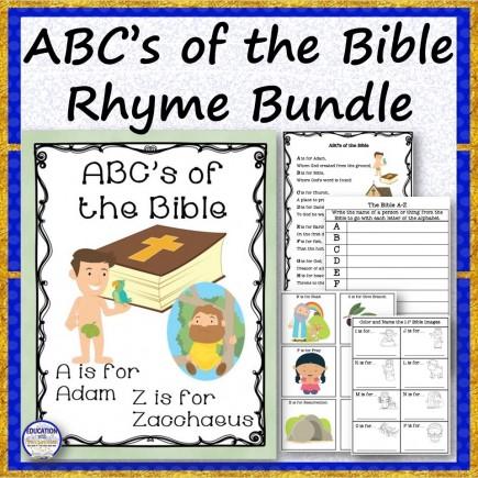 ABC's of the Bible Rhyme Bundle