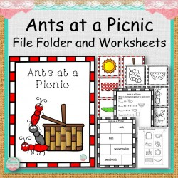 Ants on a Picnic File Folder and Worksheets