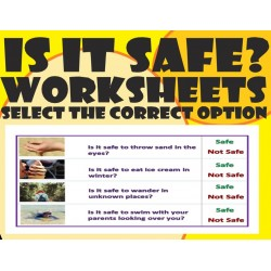 Is It Safe?–  Worksheets with real images– Circle the correct option.