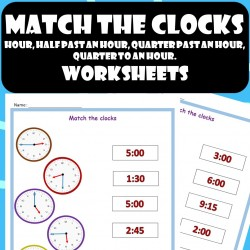 Telling Time - Match the Clocks