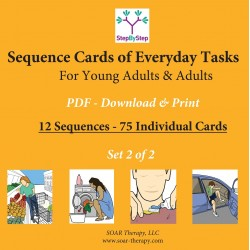 12 Sequences of Everyday Activities for Young Adults & Adults (Set 2 of 3)