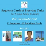11 Sequences of Everyday Activities for Young Adults & Adults (Set 3 of 3)
