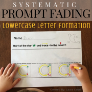 Systematic Prompt Fading: Lowercase Letters