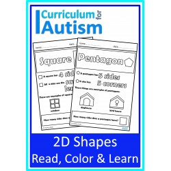 2D Shapes Read, Color & Learn Worksheets