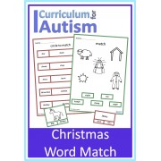 Christmas Nativity Vocabulary Read & Match