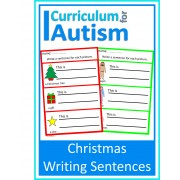 Christmas Writing Sentences with Visual Prompts